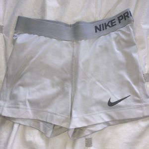 White Nike Pro Spandex